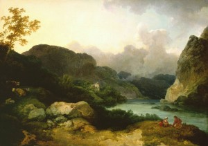 Lake Scene, Evening 1792 by Philip James De Loutherbourg 1740-1812