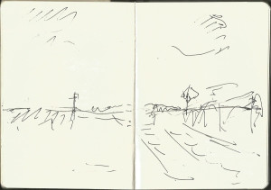 Sketchbook_drawingfrom_moving_train_MDorn_2010