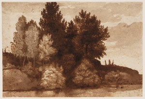 Claude_Lorraine_Group_of_Trees_on_a_Riverbank_c1640-1645_brown_ink_with_underlying_black_chalk